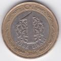 1 лира. 2009 г. Турция. 7-5-63