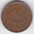 50 сентаво. 1957 г. Португальский Мозамбик. 7-6-115