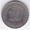 "10 пфеннигов. 1897 г. Германия. ""A"". 7-6-257"