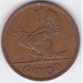 1 пенни. 1946 г. Ирландия. Домашняя курица. 7-7-26