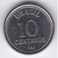 10 сентаво. 1986 г. Бразилия. 7-7-92