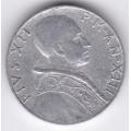5 лир. 1951 г. Ватикан. Пий XII. 16-1-460
