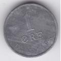 1 эре. 1957 г. Дания. 16-2-191