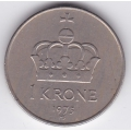 1 крона. 1975 г. Норвегия. 16-2-340