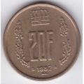 20 франков. 1982 г. Люксембург. 16-2-373