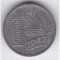 1 цент. 1942 г. Нидерланды. 16-2-470
