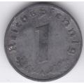 """1 рейхспфенниг. 1942 г. """"A"""". Третий Рейх. 16-3-172"""