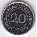 20 центов. 2004 г. Маврикий. 16-3-282