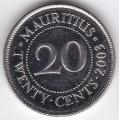 20 центов. 2003 г. Маврикий. 16-3-283