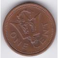 1 цент. 1991 г. Барбадос. 16-4-89