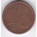 """1 евроцент. 2002 г. Германия. """"J"""". 19-2-166"""