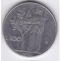 100 лир. 1980 г. Италия. 16-5-248
