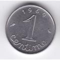 1 сантим. 1969 г. Франция. 16-5-293