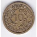 """10 рентенпфеннигов. 1924 г. Германия. """"A"""". 16-5-309"""
