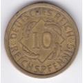 """10 рейхспфеннигов. 1925 г. Германия. """"A"""". 16-5-310"""