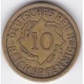 """10 рейхспфеннигов. 1925 г. Германия. """"A"""". 16-5-321"""