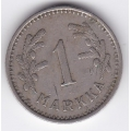 1 марка. 1937 г. Финляндия. 19-3-159