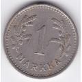 1 марка. 1938 г. Финляндия. 19-3-160