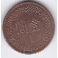 1 юань. Тайвань. 14-1-136