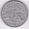 1 франк. 1943 г. Франция. Для правительства Виши. 14-1-271