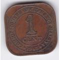 1 цент. 1945 г. Малайя и Британское Борнео. 14-1-483