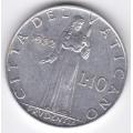 10 лир. 1952 г. Ватикан. 14-1-563