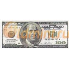 Сувенирная минибанкнота 100 долларов США. Б-537