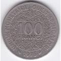 100 франков. 1975 г. Западная Африка. 14-2-205