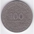 100 франков. 1996 г. Западная Африка. 14-2-206