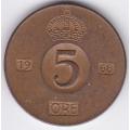 5 Эре. 1968 г. Швеция. 14-3-204