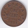 1 цент. 1932 г. Канада. 14-3-305