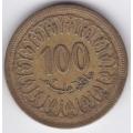 100 миллимов. 1960 г. Тунис. 14-4-123