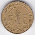 5 франков. 1967 г. Западная Африка. 14-4-244