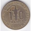 10 франков. 1968 г. Западная Африка. 14-4-305