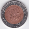 100 франков. 2007 г. Руанда. 14-5-89