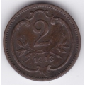 2 геллера. 1913 г. Австро-Венгрия. 14-5-205