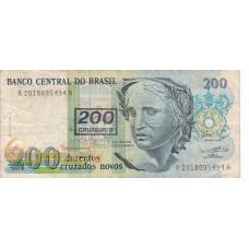 Бразилия. 200 новых крузадо - 200 крузейро. 1990 г. Б-604