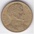 10 песо. 1995 г. Чили. Бернардо О'Хиггинс. 1-1-284