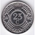 25 центов. 1992 г. Нидерландские Антилы. 1-1-393