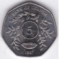 5 шиллингов. 1987 г. Уганда. 1-1-428