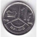 1 франк. 1989 г. Бельгия (на фламандском). 1-3-1Б