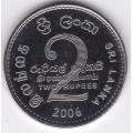 2 рупии. 2006 г. Шри-Ланка. 7-4-426