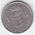 1 франк. 1969 г. Бельгия (на фламандском). 1-4-7Б