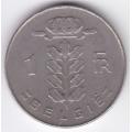 1 франк. 1973 г. Бельгия (на фламандском). 1-4-11Б