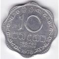 10 центов. 1978 г. Шри-Ланка. 1-4-57