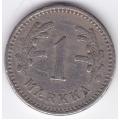 1 Марка. 1928 г. Финляндия. 1-4-161