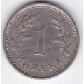 1 Марка. 1933 г. Финляндия. 1-4-162