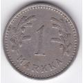 1 Марка. 1937 г. Финляндия. 1-4-164