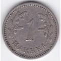 1 Марка. 1929 г. Финляндия. 1-4-168