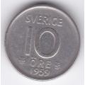 10 эре. 1959 г. Швеция. Серебро. 9-1-1011